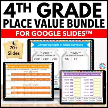 4th Grade Place Value Bundle {4.NBT.1, 4.NBT.2, 4.NBT.3} Google Slides