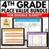 4th Grade Place Value Google Classroom Math Activities 4.NBT.1, 4.NBT.2, 4.NBT.3
