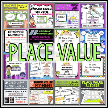 4th Grade Place Value Bundle (4.NBT.A1, A2, and A3)
