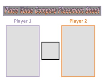 4th Grade Place Value Comparing Game for Common Core