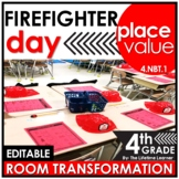 4th Grade Place Value | Firefighter Room Transformation