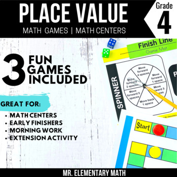 4th Grade Place Value Games & Centers