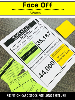 Place Value Games and Centers 4th Grade