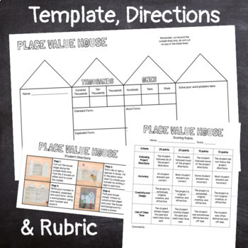 4th Grade Place Value House Craft