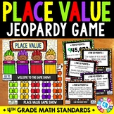 4th Grade Place Value Jeopardy Game {4.NBT.1, 4.NBT.2, 4.NBT.3}