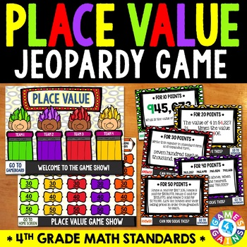4th Grade Place Value Game Show Jeopardy 4 NBT 1 4 NBT 2 4 NBT 3