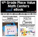 4th Grade Place Value Math Centers and eBook BUNDLE