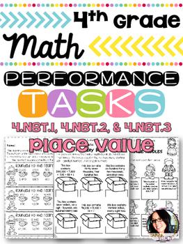 4th Grade Printables Place Value Performance Tasks 4.NBT.1, 4.NBT.2, 4.NBT.3