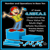 4th Grade Place Value Practice and Activities:  4.NBT.A.1