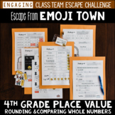 4th Grade Place Value Review Escape Room Escape from Emoji Town