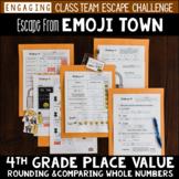 Place Value Review Escape Room 4th Grade / Test Prep