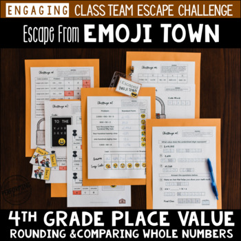 Place Value Review Escape Room 4th Grade / Test Prep