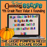 4th Grade Place Value & Rounding Digital Escape Room Fall/Pumpkin Themed