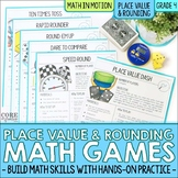 4th Grade Place Value & Rounding Math Games   Hands-On Lea