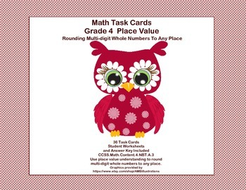4th Grade-  Place Value-Rounding Multi-digit Whole Numbers  CCSS 4.NBT.A.3