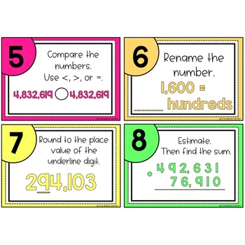 4th Grade Place Value [Task Cards]