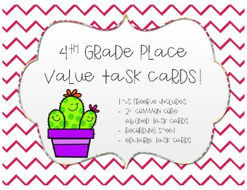4th Grade Place Value Task Cards