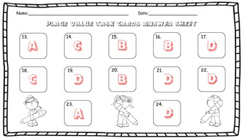 Place Value Task Cards 4.NBT.1 and 4.NBT.2