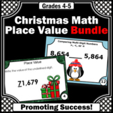4th Grade Place Value Task Cards BUNDLE, 4th Grade Christm