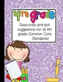 4th Grade Planning Ideas/Resources Freebie