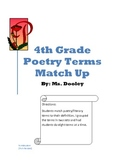 4th Grade Poetry Terms Match Up