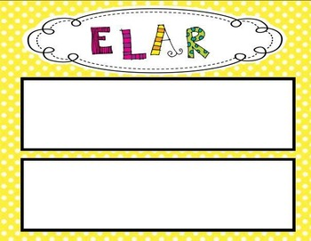 Polka Dot Themed 4th Grade ELAR TEKS Statement Posters