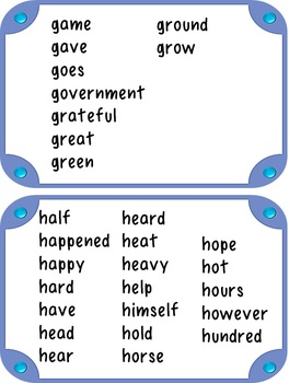 Word Wall for 4th Grade: Portable {In 4 Colors!}