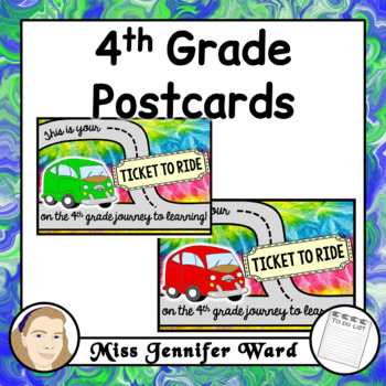 4th Grade Postcards - Welcome Back