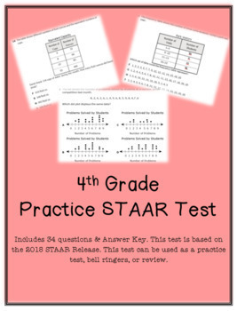 4th Grade STAAR Practice Test