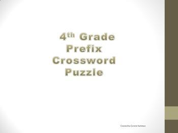 4th Grade Prefix Crossword Puzzle