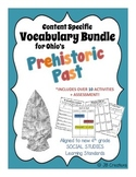 4th Grade Prehistoric Past Content Specific Vocab Activity Pack (Ohio Model)
