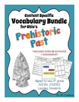 4th Grade Prehistoric Past Content Specific Vocab Activity