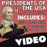 4th Grade Presidents Day Activities & Worksheets with Video