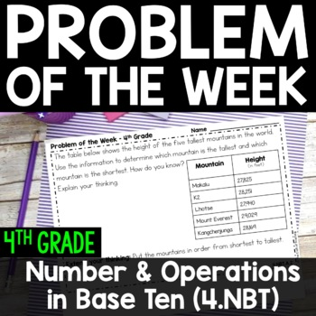 4th Grade Problem of the Week - Number and Operations