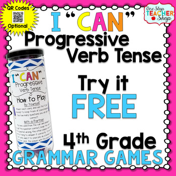 4th Grade Progressive Verb Tense Game | I CAN Grammar Games