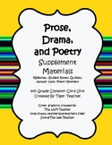 4th Grade Prose, Drama, Poetry Supplement Pack