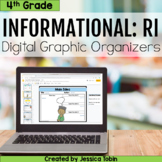 4th Grade RI Informational Digital Graphic Organizers- with Google Slides