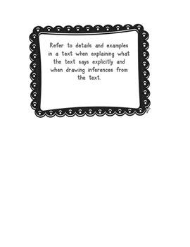 4th Grade R.L. Folder Labels