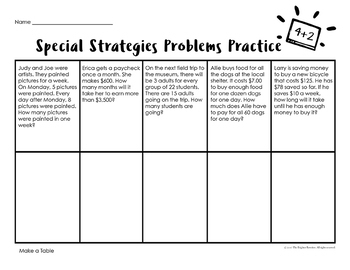Word Problems Worksheets 4th
