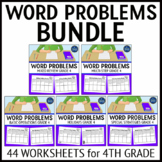 4th Grade Word Problems Bundle
