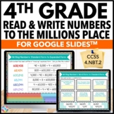4th Grade Read and Write Numbers Digital Practice {4.NBT.2} - Google Classroom