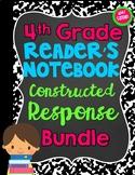 4th Grade Reader's Notebook Constructed Response Mega Pack