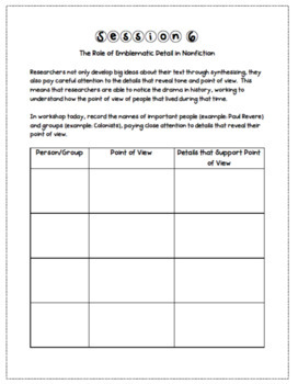 4th Grade Reader's Notebook: Reading History (The American Revolution)