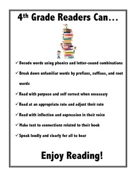4th Grade Readers Can... Poster