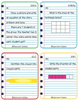 4th Grade Readiness Math Task Cards (Common Core Aligned)