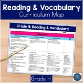 4th Grade Reading And Vocabulary Curriculum Map