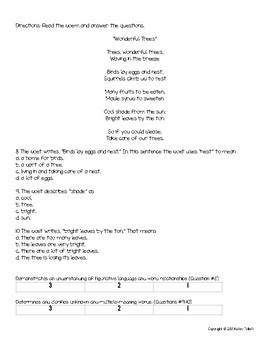 4th Grade Reading Assessment