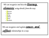 4th Grade Reading CAFE Common Core posters