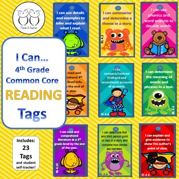 4th Grade Reading Common Core Brag Tags