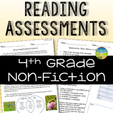 4th Grade Reading Comprehension Assessments for Non Fiction